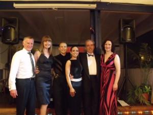 From left to right, Duncan Smart, Maxine Cattle, Richard Still, Morgan Hemphill, Len Cattle, Miranda Lee